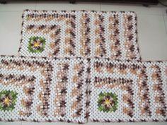 Crochês da Elizandra: Jogo de tapetes