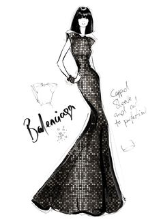 Limited edition Balenciaga couture illustration by Megan Hess. #fashion #sketches #moda