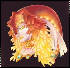 Warm up doodle ~Zora Queen Rutela by flyingterra