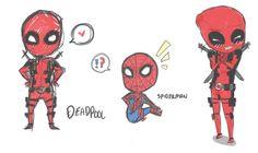 Deadpool and Spiderman by Outside-Box.deviantart.com on @deviantART