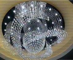 Frete grátis alta qualidade grande contemporânea lustre de cristal lustres de iluminação Dia80 * H60cm brilho