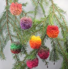 Flower loomed pinecones or baubles