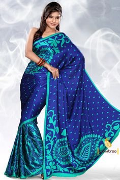 Buy Printed Sarees, Printed Silk Sarees and Designer Printe Saree  Best Price : 810