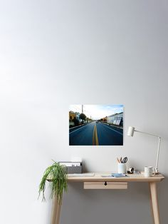 Poster with a beautiful photograph of a Brazilian highway. Great for decorating your home and having a photograph with depth of field. #road #poster #photo #fineart #street #asphalt