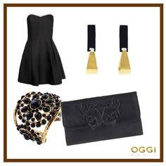 #OGGI #giftidea #Christmas #jewels #outfit #gold #black
