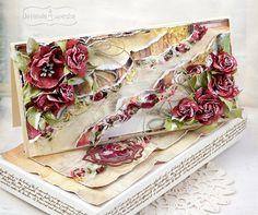 Vintage Diy, Vintage Crafts, Shabby Vintage, Shabby Chic Karten, Shabby Chic Cards, Shagun Envelopes, Card Making Designs, Some Cards, Card Making Inspiration