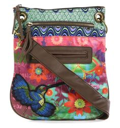 Desigual sling bag - imagine it as a giant zip-pouch with eyelet punched holes for the handles. Hippie Bohemian, Bohemian Style, Boho Chic, My Bags, Purses And Bags, Beautiful Bags, Zipper Pouch, Fashion Bags, Blues