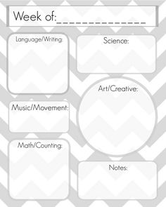Weekly Lesson Planning Template To Add The Supplemental Activities - Pre k weekly lesson plan template