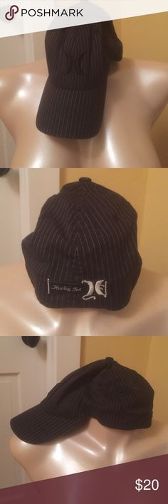 1253f437 Hurley Flexfit Black and grey pinstripe. Like new. Size S-M Hurley  Accessories Hats Hurley