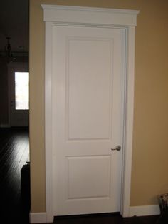 Trim work- like the solid 1x's around the door and for the baseboard, and the header over the tops of windows and doors.