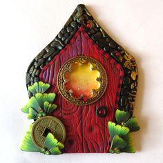Zen Garden Fairy Door Pagoda Pixie Portal Home and by Claybykim
