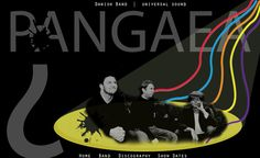 DIGITAL DESIGN - Web design for rock band Pangaea.