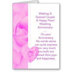 #30th #Wedding #Anniversary Greeting Card Purple #Rose
