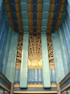 Eastern Columbia building entrance, Los Angeles. Opened September 12th, 1930.