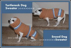 Posh Pooch Designs Dog Clothes: Snood Turtle Neck Dog Sweater New Crochet Pattern Release | Posh Pooch Designs