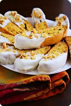 Pumpkin Gingerbread Biscotti  Who makes biscotti? Try these and let me know how good they are.