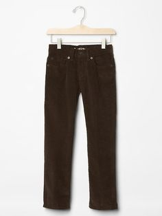 Boy Straight Cords Brown Adjustable Waist 100% Cotton 1969 GAP 7 $34.9 #GapKids #ClassicStraightLeg #Everyday