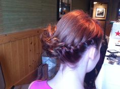 Another braided short hair updo