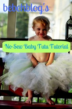 The Most Unnecessary Craft Tutorial Ever: Baby Tutu   (use Cookie Monster blue, with a few brown/white polka dots mixed in?)