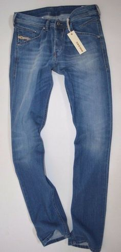 bc3b00f8 NEW mens DIESEL BELTHER 0RP36 Stretch Regular Slim Taper leg JEANS size W27  L32