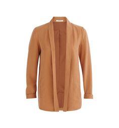 Veste de tailleur fluide Femme caramel - Promod Caramel, Duster Coat, Jackets, Fashion, Dressy Jackets, Warm Colors, Alteration Shop, Boutique Online Shopping, Fashion Ideas