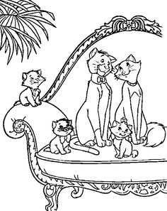 58 Best Aristocats Coloring Pages Images On Pinterest In 2018