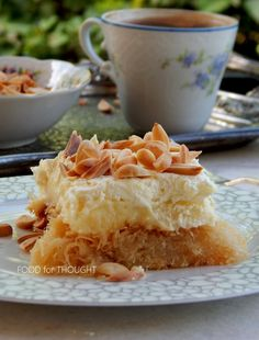 Food for thought: Εκμέκ κανταΐφι Greek Sweets, Greek Desserts, Roses Menu, Sweets Recipes, Cooking Recipes, Macaroni And Cheese, Recipies, Food And Drink, Turkey