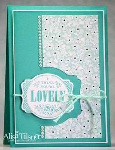 You're Lovely, Sweet Sorbet DSP & Accessories Pack, Pearls, Deco Label Framelits Scrapbooking, Scrapbook Cards, Cool Cards, Diy Cards, Card Making Inspiration, Making Ideas, Stamping Up Cards, Card Tags, Flower Cards