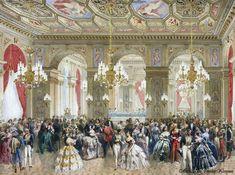Royal visit to Napoleon III Salon des Arcades at the Hôtel de Ville,23 August 1855
