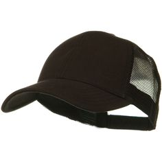 Solid Comfy Cotton Jersey Knit Mesh Back Cap - Dark Brown