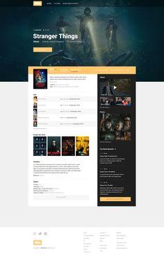 "via Muzli design inspiration. ""IMDB Redesign Concepts"" is published by Muzli in Muzli - Design Inspiration. Web Layout, Layout Design, Web Design Inspiration, Design Ideas, Wordpress Theme Design, Ui Web, User Interface Design, App Design, Service Design"