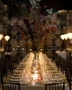 Think this is a great idea being as though my reception is going to be small. Even considering a reception dinner party 20 Fall Wedding Decoration Ideas