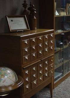 A bunch of card catalogs at this site, collected from flickr so there aren't any stories. Still, there are a lot of pictures I hadn't seen; it's worth a look! :)