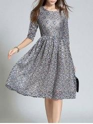 Gamiss - Gamiss Jacquard Fitting Lace Dress - AdoreWe.com