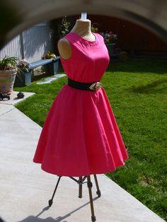Vintage Fusca Summer Cotton Dress size 10P by grannyclosetjunk, $18.00