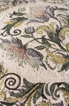 Mosaic flower medallion handmade right in Virginia