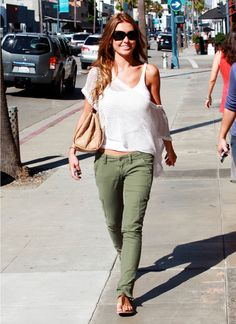 School Outfit: Audrina Patridge  NOTE:Cargo pants will work with any white tee