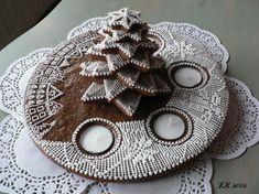 Beautiful Cookie Christmas Tree Advent Wreath (Czech), no recipe, just pretty