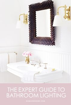 The only guide to bathroom lighting you'll ever need. // #bathrooms #lighting