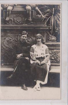 ROMANIA ROYALTY King Carol II & Queen Elena Vintage Postcard R 34 | eBay