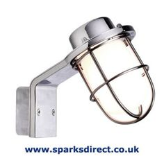 Angled Bulkhead with Wireguard for Outdoor Lighting - Nordlux Marina Lamp