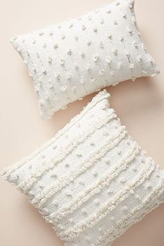White Pillows by Anthropologie, Woven Landon Pillow Boho Throw Pillows, Cute Pillows, Diy Pillows, Accent Pillows, Pillows On Bed, Living Room Pillows, Pillow Ideas, Bohemian Pillows, Colorful Throw Pillows