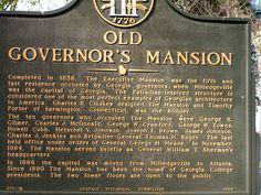 Milledgeville GA - Old Governor's Mansion marker - (c2007).