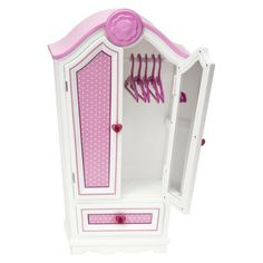 closet for his clothes! (it has to be pink to match my room..)