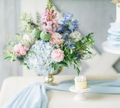 summer barn wedding blue cake table with gold footed bowl wedding flowers centrepieces 2 Wedding Lanterns, Wedding Centerpieces, Wedding Decorations, Centerpiece Flowers, Table Decorations, Hessian Wedding, Wedding Table, Rustic Wedding, Wedding Ideas Board