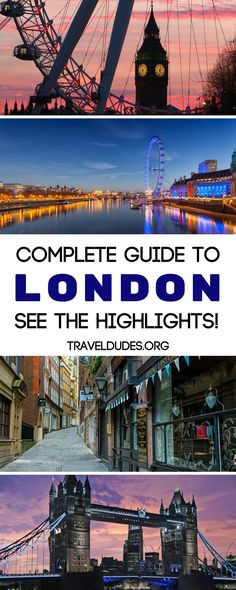 Visit the best places in London with this travel guide. Head to England's capital city for a look at the British Museum or find yourself among the royals at Buckingham palace. Forget about the restaurants, shopping, or pubs for a second to take in the sights. Travel in London. | Travel Dudes Travel Community #London