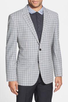 BOSS HUGO BOSS 'James' Trim Fit Plaid Sport Coat