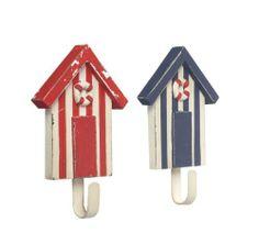 Red & Blue Beach Hut Seaside Door / Coat Hooks - Rustic Style by Parlane International, http://www.amazon.co.uk/dp/B009P7MUZ2/ref=cm_sw_r_pi_dp_2.K6sb193BKBP