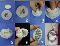 Embroidery Necklace Mini 69 Ideas For 2019 Embroidery Designs, Hand Embroidery Patterns, Cross Stitching, Cross Stitch Embroidery, Cross Stitch Patterns, Silk Ribbon Embroidery, Embroidery Jewelry, Mini Cross Stitch, Sewing Crafts