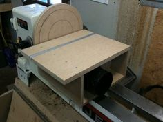 """12"""" Disc Sander attachment for my Lathe with dust collection"""